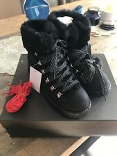 J Crew Black Nordic Shearling Boots 9