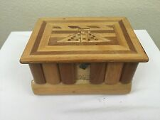 Inlaid Wood Intarsia Marquetry Trinket Jewelry Box 6 ½ x 4 ½ and 3 ½ deep