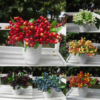 Artificial Fruit Berry Blueberry Decoration Wedding Bouquets Silk Fake Flower uk
