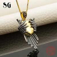 Love Heart Wing Necklaces Gold 925 Silver Xmas Gifts For Her Daughter Wife Women