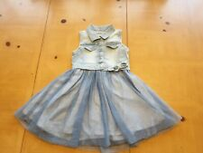 Mayoral Designer Girl's Blue Denim Style Dress Size 5 - 6 Years