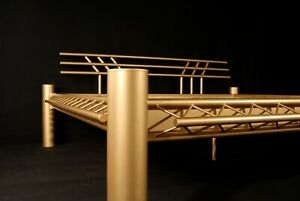 Goldbett Stahlbett Metallbett Mod. 3P - GOLD 160x200