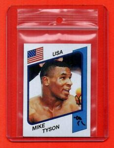 PANINI SUPERSPORT 1986 - rookie sticker #153 MIKE TYSON - very good cond REPRINT