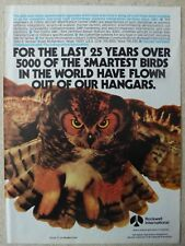 1/1987 PUB ROCKWELL COLLINS DEFENSE COMMUNICATIONS HIBOU OWL ORIGINAL AD