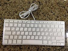 Original Apple Aluminum Short Wired USB Keyboard - Russian Version MC110R/S
