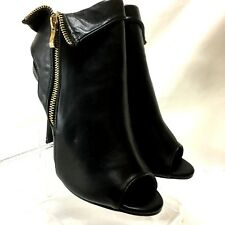 Bolaro by Summer Rio Stiletto Pump Peep Toe Style DH1921 Black Sz 8M Side Zip