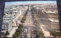 France Paris Persepctive des Champs-Elysees depuis le Sommet de l'Arc de Triomph