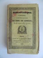 Oeuvres choisies de Madame DE LAMBERT Laurentie Bibliothèque choisie 1829