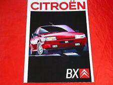 CITROEN BX Berlina + Break re divi Tri TRS GTI RD TRD prospetto di 1988