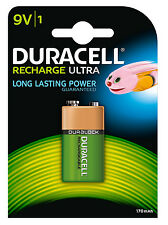 HR9V Duracell Rechargeable Alkaline Battery Ultra Power 9v 400 Charge Lifespan