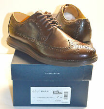 New $248 Cole Haan Nike Lunargrand Leather Wingtip T MORO Brown sz 7 M RARE lot