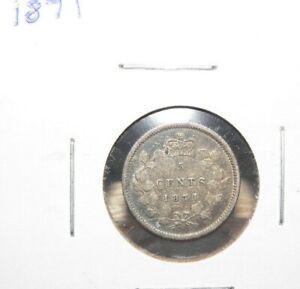 1871   FINE - VERY FINE   VICTORIA  5 CENT SILVER   PLEASE SEE PICS
