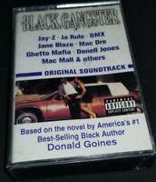 Black Gangster - Original Soundtrack Cassette Tape Jay-Z Ja Rule DMX Mac Dre rap