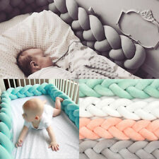100CM Baby Infant Plush Crib Bumper Bed Bedding Cot Braid Pillow Pad Protector
