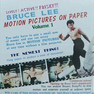 Bruce Lee Motion Pictures on Paper Book Vol 1 1977 Jeet-kune-do Martial Arts New