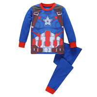 Kids Boys Iron Man Captain America Pyjamas Outfits Sleepwear Nightwear Pjs Suits