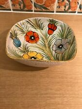 Vintage Italian Pottery Square Bowl - Floral Pattern -  FRATELLI FANCIULLACCI ?