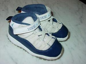 "2017 Nike Air Jordan Retro 11 ""Win Like 82"" White/Navy Toddler Shoes! Size 8C"