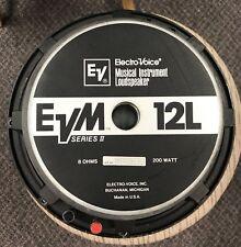 "Electro-Voice EVM 12l Series II 12"" Guitar Amp Speaker, 8 Ohm"
