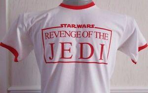 """STAR WARS INSPIRED """"REVENGE OF THE JEDI"""" MEN'S RINGER T-SHIRT."""