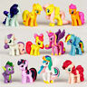 My Little Pony Figures/Cake Toppers 12pc/Set Cute Unicorn Fluttershy Kids Gifts