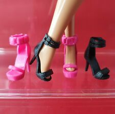Barbie Doll Shoes Genuine Strappy Stilleto Heel Peep Toe  Fashion Accessories