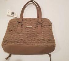 2 in 1 Hobo Bag in Terra Straw Beige Stripe purse for women.