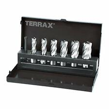 More details for core drill bit set - 7 pieces, cast steel, advanced blade geometry