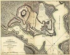 1777 American Revolution Revolutionary War Battle Map Ticonderoga Military Print
