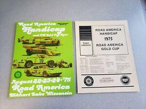 1975 Road America Elkhart Lake Handicap Race Program Can-Am  Corvette AP BP
