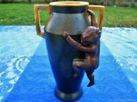 Ancien vase décoratif Fille bronze métal 19ème siècle France Antique decorative