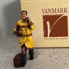 VANMARK FIREMAN FIGURINE RED HATS COURAGE FIRE RESCUE NIB BOX NEW PHONE FIREMEN