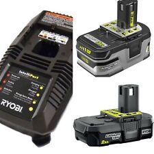 New Ryobi 18V Lithium Battery Charger Combo P191+P190+P118 (3Ah + 2Ah + Charger)