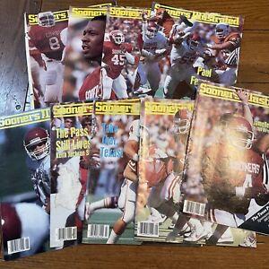 9 Vintage Sooners Illustrated Magazines 1985 OU Oklahoma Football Champions