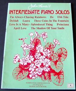 JOHN LANE'S INTERMEDIATE PIANO SOLOS BOOK 1 SHEET MUSIC BOOK (1972) ENGLAND