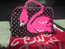 NEW Justice FLAMINGO HOT PINK Neon Carry On Luggage Bag Travel light up Wheels