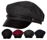 41c21f0ed14 DRY77 Winter Wool Black Horn Unisex Cotton Greek Fisherman s Sailor Fiddler  Hat