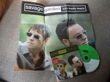 Savage Garden Truly Madly Deeply RARE CD Single + Poster