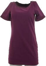 Buffalo Damen Kleid Dress Webkleid Kurzarm Mini Minikleid violett Gr. 34 376428