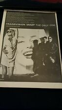 Transvision Vamp The Only One Rare Original U.K. Promo Poster Ad Framed!