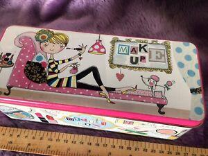 Rachel Ellen Storage Tin Make up Teen Tween New fun gift birthday lidded tin