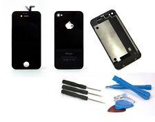 iPhone 4 / 4G Komplettset Digitizer + Backcover LCD Display Touchscreen Schwarz+