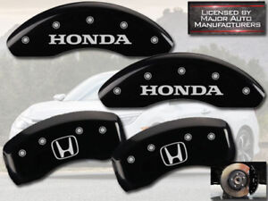 "2011-2016 ""Honda"" CRZ CR-Z Front + Rear Black MGP Brake Disc Caliper Covers ""H"""
