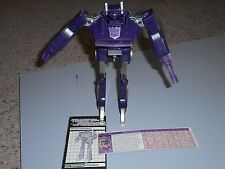 Hasbro Transformers Vintage G1 Shockwave near complete please read working elec