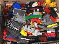 5+ Lbs Bulk Lot of Assorted Loose LEGO Mega blocks (mostly lego) Box # 3