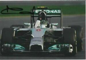 Nico Rosberg signed photo. Mercedes 2014. Australian GP COA. 10X15