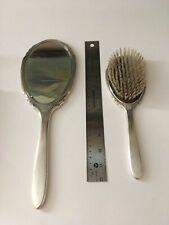 Sterling silver vanity set. International Sterling Vanity Mirror and Brush