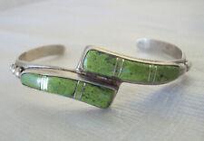 Native American Signed Grace Smith Navajo Sterling Silver Cuff Bracelet