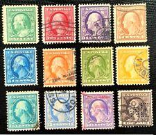 1908 -09 US Stamp SC#331-342 Franklin & Washington Complete Set CV:$152