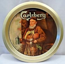 CARLSBERG BEER ADVERTISEMENT TIN TRAY VINTAGE SERVING COLLECTIBLE BREWERIANA OLD